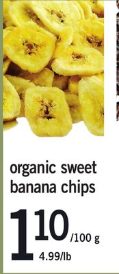 Organic Sweet Banana Chips