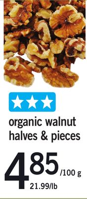 Organic Walnut Halves & Pieces