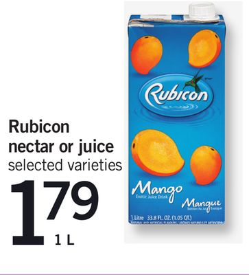 Rubicon Nectar Or Juice - 1 L