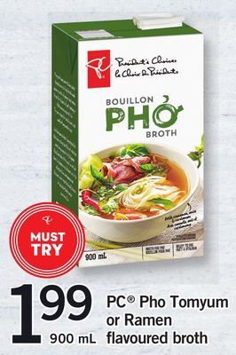PC Pho Tomyum Or Ramen Flavoured Broth - 900 mL
