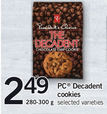 PC Decadent Cookies - 280-300 g