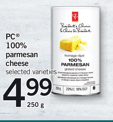 PC 100% Parmesan Cheese - 250 g
