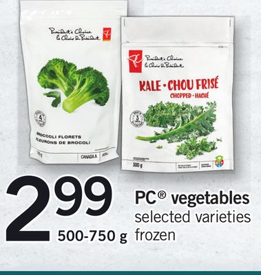 PC Vegetables - 500-750 g