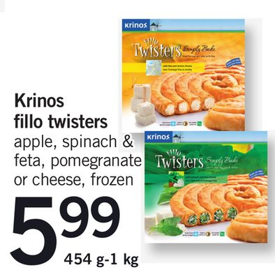 Krinos Fillo Twisters - 454 G-1 Kg