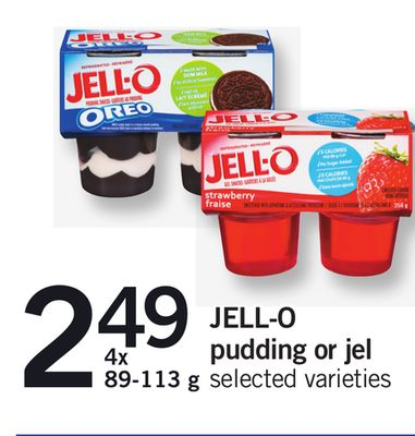 Jell-o Pudding Or Jel - 4x 89-113 g