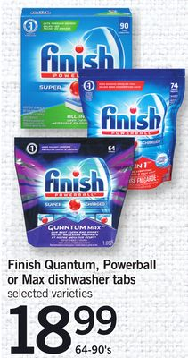 Finish Quantum - Powerball Or Max Dishwasher Tabs - 64-90's