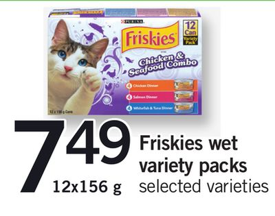 Friskies Wet Variety Packs - 12x156 g