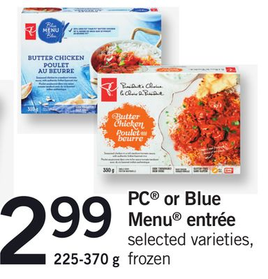 PC Or Blue Menu Entrée - 225-370 g