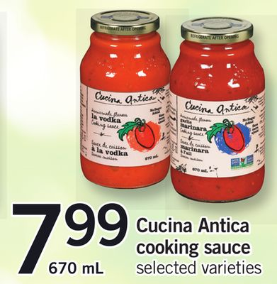 Cucina Antica Cooking Sauce - 670 mL