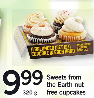 Sweets From The Earth Nut Free Cupcakes - 320 g