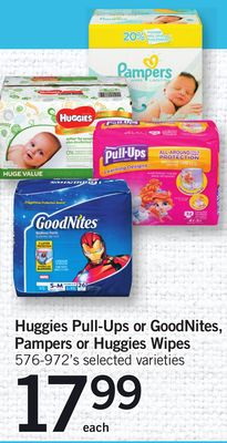 Huggies Pull-ups Or Goodnites - Pampers Or Huggies Wipes - 576-972's
