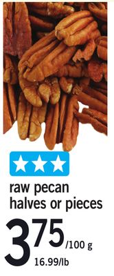 Raw Pecan Halves Or Pieces
