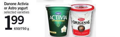 Danone Activia Or Astro Yogurt - 650/750 g
