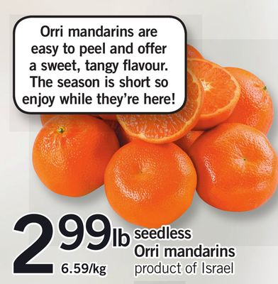 Seedless Orri Mandarins