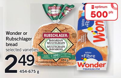Wonder Or Rubschlager Bread - 454-675 g