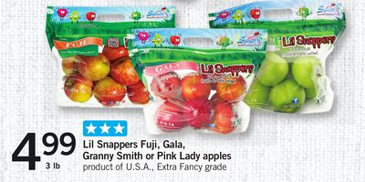 Lil Snappers Fuji - Gala - Granny Smith Or Pink Lady Apples - 3 Lb