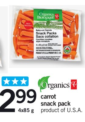 Carrot Snack Pack - 4x85 g