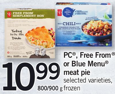 PC - Free From Or Blue Menu Meat Pie - 800/900 g