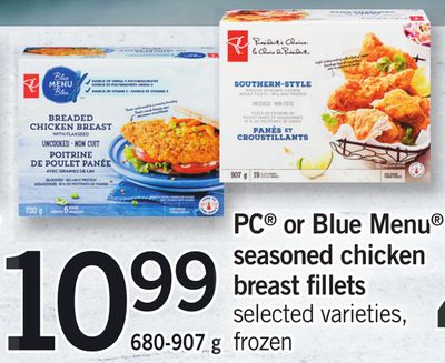 PC Or Blue Menu Seasoned Chicken Breast Fillets - 680-907 g