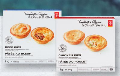 PC Beef Or Chicken Pies - 4x250 g
