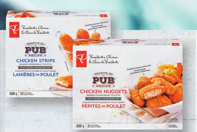 PC Pub Style Chicken Strips - Burgers Or Nuggets - 800 g
