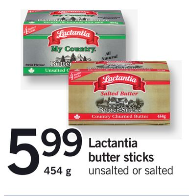 Lactantia Butter Sticks - 454 g