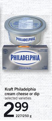 Kraft Philadelphia Cream Cheese Or Dip - 227/250 g