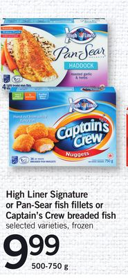 High Liner Signature Or Pan-sear Fish Fillets Or Captain's Crew Breaded Fish - 500-750 g