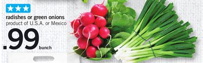 Radishes Or Green Onions - Bunch