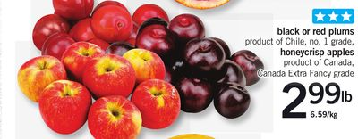 Black Or Red Plums - Honeycrisp Apples