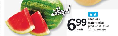 Seedless Watermelon - 11 Lb. Average