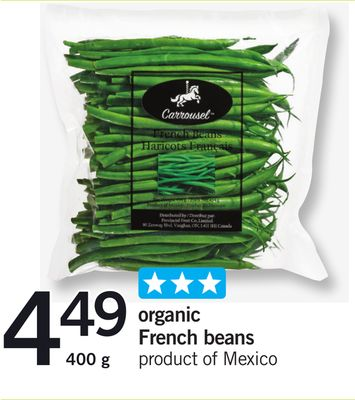 Organic French Beans - 400 g