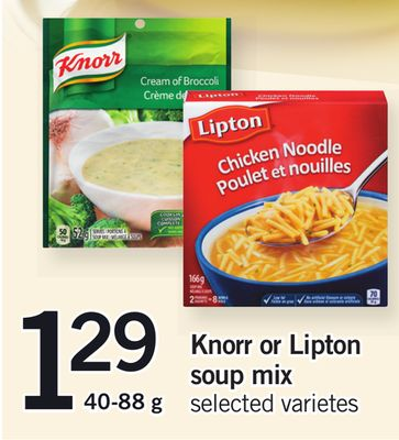 Knorr Or Lipton Soup Mix - 40-88 g