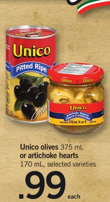 Unico Olives - 375 mL Or Artichoke Hearts - 170 mL