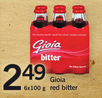 Gioia Red Bitter - 6x100 g