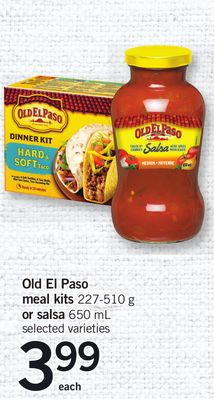 Old El Paso Meal Kit.s 227-510 G Or Salsa - 650 Ml