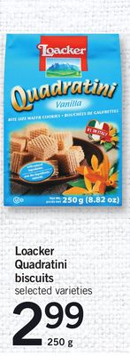 Loacker Quadratini Biscuits - 250 g