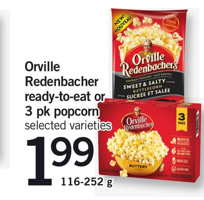 Orville Redenbacher Ready-to-eat Or 3 Pk Popcorn - 116-252 g