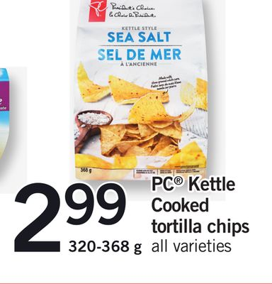 PC Kettle Cooked Tortilla Chips - 320-368 g
