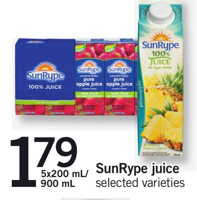 Sunrype Juice - 5x200 Ml/ 900 mL