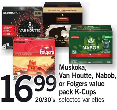 Muskoka - Van Houtte - Nabob - Or Folgers Value Pack K-cups - 20/30's