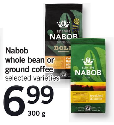 Nabob Whole Bean Or Ground Coffee - 300 g