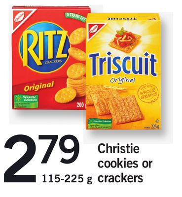 Christie Cookies Or Crackers - 115-225 g