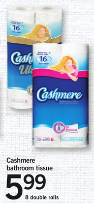 Cashmere Bathroom Tissue - 8 Double Rolls