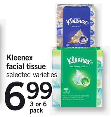 Kleenex Facial Tissue - 3 or 6 Pack