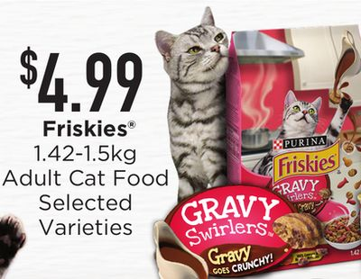 Friskies Adult Cat Food - 1.42-1.5kg
