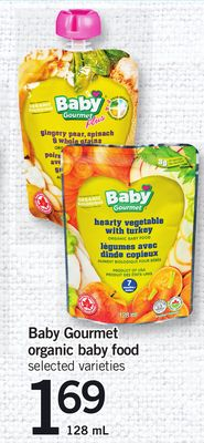 Baby Gourmet Organic Baby Food - 128 mL