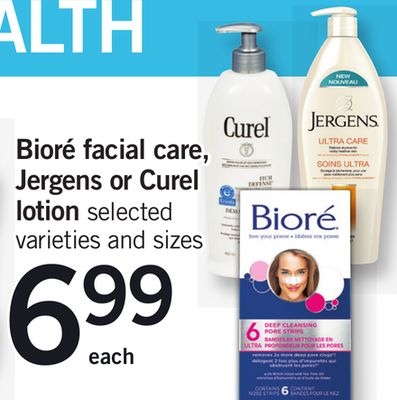 Bioré Facial Care - Jergens Or Curel Lotion