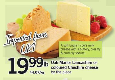 Oak Manor Lancashire Or Coloured Cheshire Cheese