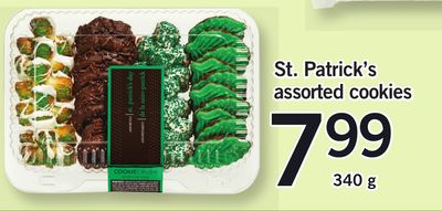 St. Patrick's Assorted Cookies - 340 g